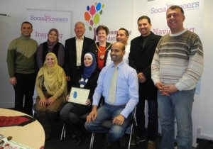 SocialPioneers Transformation Leaders with certificates and Milton Keynes Mayor