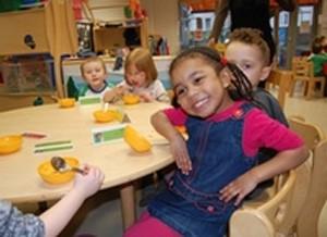 Smiling children in playschool